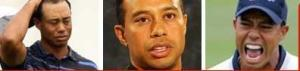 the many faces of Tiger Woods