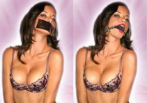 Celebrity Bondage - Adriana Lima gagged