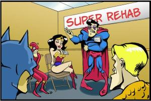 wonder woman in rehab