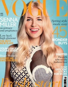 Sienna Miller Covers Vogue UK April 2012