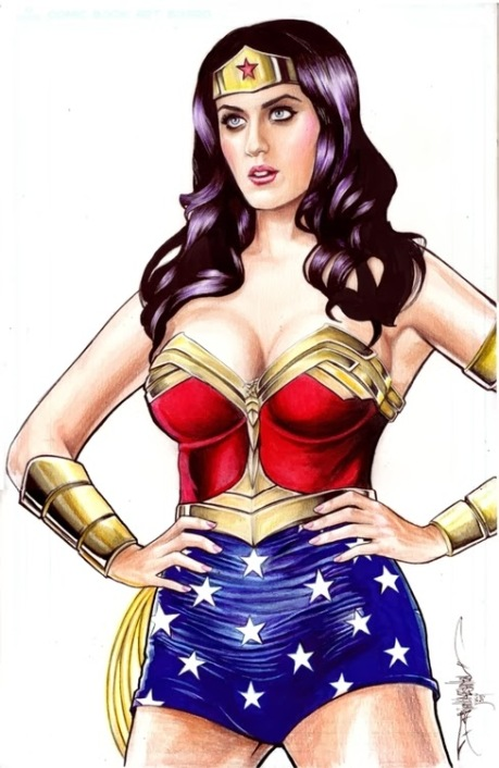 Katy Perry is a Pop Music Wonder Woman with major cleavage
